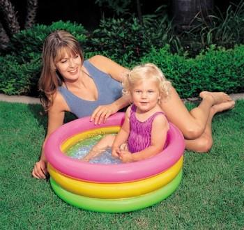 Free shipping 57402 trinuclear intex neon baby bathtub inflatable pool infant bathtub sand pool
