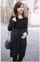 Roupa Gestante Recommend New Elegant Maternity Dress Autumn Spring Wear, Plus Size Pregnant Knitted Clothing, free Shipping N