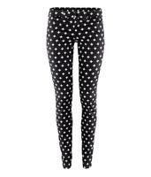White cross black tight-fitting denim modeling 5 bags low-waist slim elastic slanting stripe pants hm6 full