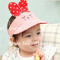 G1 Cute baby rabbit cotton sun cap, 5pcs/lot