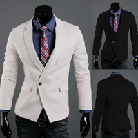 2013 men's clothing british style plus size slim suit male suit casual outerwear