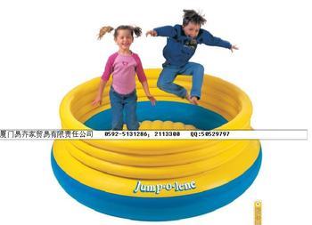 Big circle 48267 intex jumping music trampoline inflatable ball pool toy