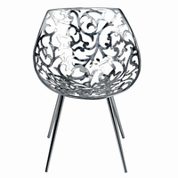 Stainless Steel Miss Lacy Swivel Chair