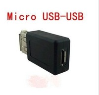 wholesale lot 2pcs freeshipping usb 2.0 type A female to micro usb B female F/F connector jack converter adapter