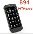 "New B94 Quad core 4 core 3G smartphone 4.5"" 960*540 QHD screen MTK6589 1.2Ghz 1GB+4GB Android 4.1 WIFI GPS WCDMA Smart Phone"