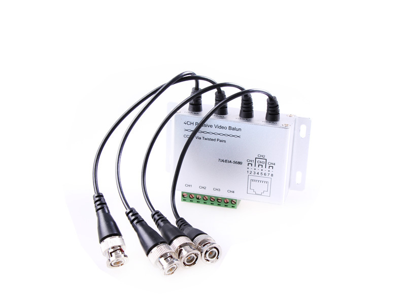 CCTV 4CH Passive Video BNC to UTP RJ45 Camera DVR Balun,4CH Passive Video Balun with Cables(China (Mainland))