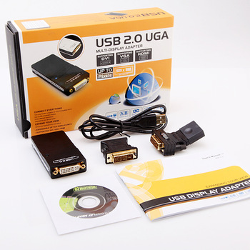 2013 Hot Selling USB 2.0 UGA to DVI VGA HDMI Multi Display Dual Monitor Converter Adapter PC Wholesale Free Drop Shipping