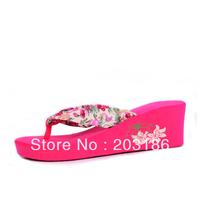Flip flops shoes summer female slippers sandals wedges high heels platform sandals slip-resistant platform sandals