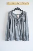 Women's bamboo cotton long-sleeve embroidered t-shirt plus size clothing basic shirt female lacing shirt