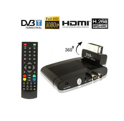 Digital Real HD 1080P DVB-T Terrestrial Satellite Receiver H.264 MPEG4 Freeview TV Turner BOX HDMI AV out For UK Ireland Europe(China (Mainland))
