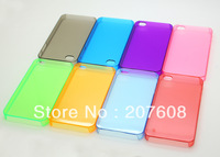 1000pcs/lot colorful Crystal Transparent case for iphone4 4G 4S