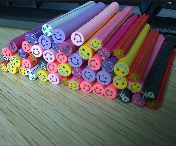 Free Shipping canes/set Mixed Fruit Cane Fancy Nail Art Polymer Clay Mixed Fruit Series+free blade(China (Mainland))