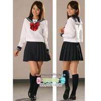 Girls school uniform student uniform class service sailor suit campus clothing spice rin