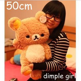 NEW huge big size brown discount large stuffed bear plush soft toy san-x rilakkuma pillow graduation gifts easter aliexpress.com(China (Mainland))