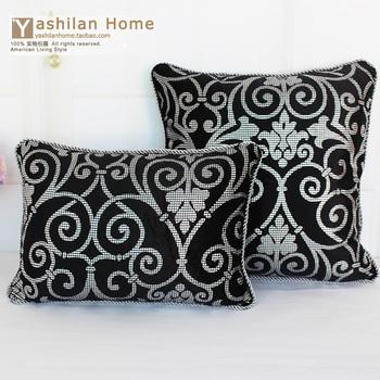 Flannelet silver fashion luxury quality rustic cushion cover pillow cover sofa pillow cushion