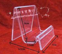 Single tier purse frame digital products mobile phone holder display rack acrylic frame organic plastic display stand