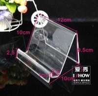 Advanced acrylic display rack lengthen single tier purse frame mobile phone holder bookshelf keyboard mouse display rack