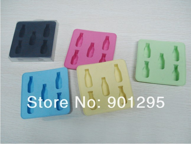 Mini Wine Beer Bottle Ice Cube Silicone Freeze Ice Tray Ice Maker Mold Bar Party Drink Cake Chocolate Mold FREE SHIPPING(China (Mainland))