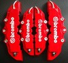Free Shipping 4pcs/set Front+ Rear Disc Brake Caliper Cover With Brembo Universal Kit 5 Colors(China (Mainland))