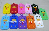 Free shipping 3D Chick Chicken Silicone Skin Cover Protector case For Samsung Galaxy S III S3 I9300 Multicolor