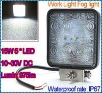 Lumin 975lm 10~30V Aluminium alloy Waterproof 15W 5LED Work Light Fog Light For Jeep SUV ATV Off-road Truck Free Shipping