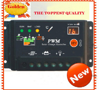 Factory Price Solar charge controller 10A 12V/24V LED Digital display photovoltic charge controller. Freeshipping