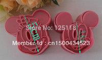 factory wholesale 20 sets of 2pcs/set  mickey cutter for fondant cake decoration