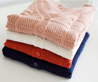 free shipping 2013 spring women's  crochet  cardigan long-sleeve air conditioning sweater coat