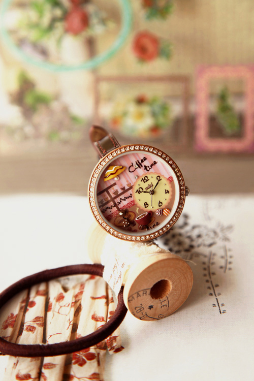 Polymer clay watch dish ss1 paint(China (Mainland))