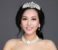Luxury Bridal Crystal Tiara Crown Hair Accessories For Wedding Quinceanera Tiaras And Crowns Pageant Hair Jewelry WIGO0116