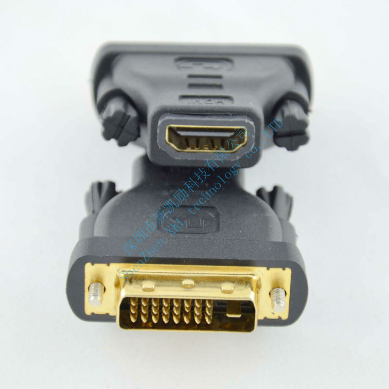 Free Shipping HDMI FeMale To DVI 24+1 male Adapter connector DVI 24+1 male to HDMI Female(China (Mainland))