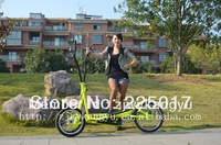Indoor outdoor elliptical bike/3 wheeled streetstrider /mobile elliptical trainer/