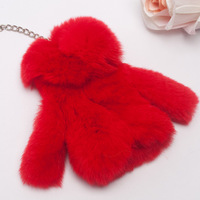 FREE SHIPPING 2013 Brand New natural rex rabbit fur key wallets women's fashion handbag key wallet
