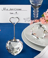 Crystal Heart Design Place Card Holders PlaceCard Holder Wedding Favors