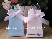 free shipping 100PC   Ring  With diamond Wedding Party Gift Favor Box candy box