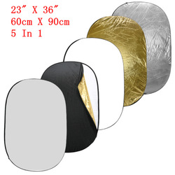 Free shipping 5-IN-1 COLLAPSIBLE REFLECTOR OVAL DISC 24&quot; x 36&quot; 60cm*90cm(China (Mainland))