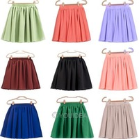 Freeshipping 9 colors Cindy Colors patterns summer cheap short fashion skirt lady chiffon mini skirts womens/women 2013