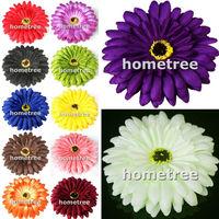 "lovely 12pcs 4"" craft silk flowers heads gerbera daisy wedding birthday party home garden decorations free shipping"