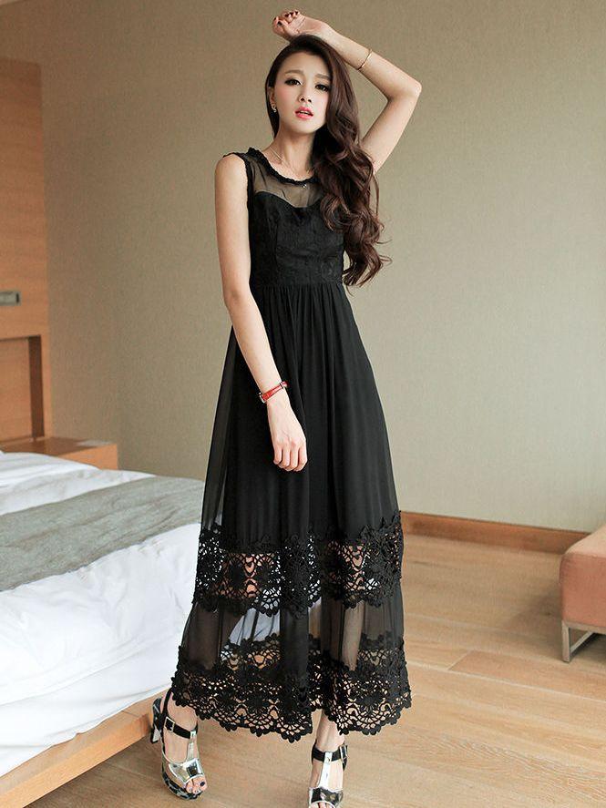 Long dress korean dress