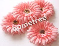 "Pink 12pcs 4"" craft silk flowers heads gerbera daisy wedding birthday party home garden decorations free shipping"