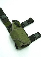 Universal Tactical Drop Leg Light Pistol RH Holster OD free ship