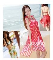 South Korean beach dress bikini three-piece female gather swimsuit ysqy free shipping