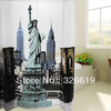 Shower curtain thickening waterproof 15s thick 180 statue of liberty shower curtain(China (Mainland))