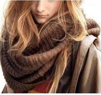 winter thickening solid scarf winter wool yarn muffler scarf thermal big muffler scarf yarn Lovers Ring Yhoo4