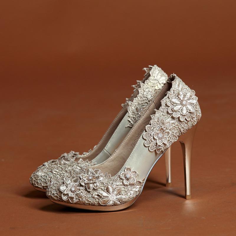 ... Champagne Color Bridal Shoes ...