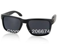 NEW OREKA WG009 Black TR90 Frame & Gray Polaroid Lenses Retro Style Glasses (Gray)+free shipping