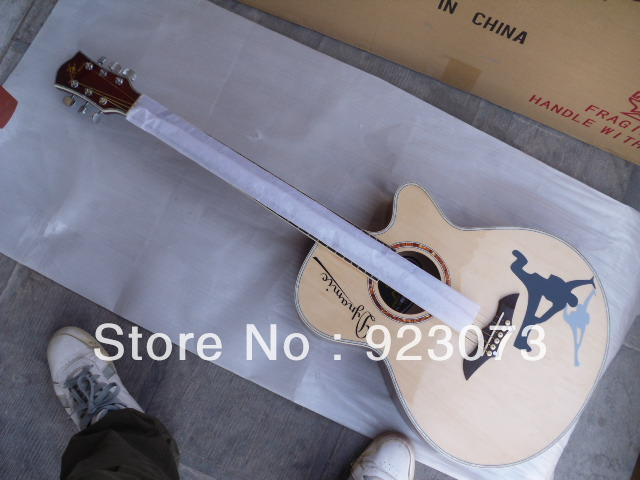 OEM wholesale 40 inch swift horse spruce panel rhythm guitar black original color white Multicolor optional Acoustic guitar(China (Mainland))