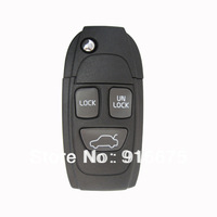 Hot sell Volvo 3 button remote key shell Folding shell