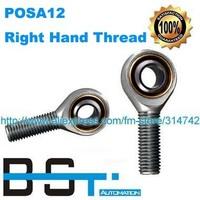 Rod End Bearing POSA12 SA12T/K / SAKB12F 12mm Male Right Hand Thread Joint Bearing