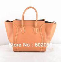 2013 fashion bat solid supple calfskin leather luggage,3 colors women designer handbag tote - MOQ1(free shipping)
